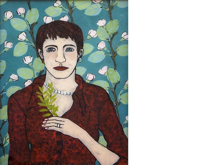 Selbst mit Majoran - 2014 - Hinterglasmalerei - 52x39 cm