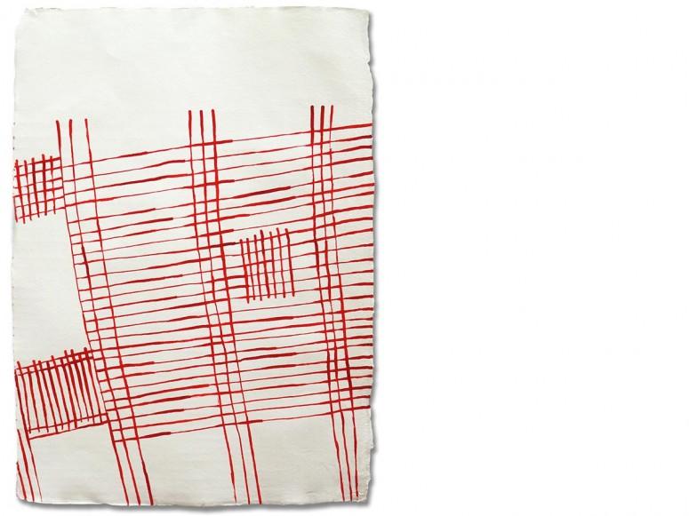 o.T. - 2014 - Tusche auf handgeschöpftem Papier - ca. 79x58 cm