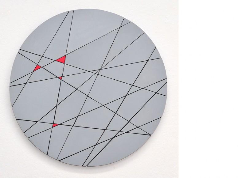sub | kutan - 2013 - Holz/Öl/Acryl - Ø 55,5 cm /Tiefe 2 cm