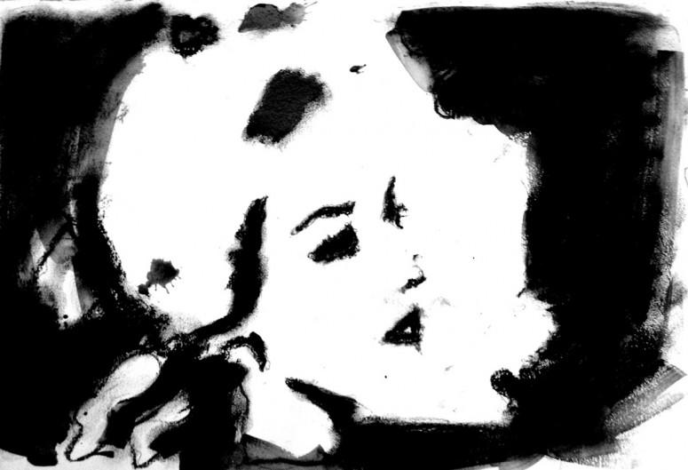 Face One - 2015 - Kohle auf Papier - 60x40 cm