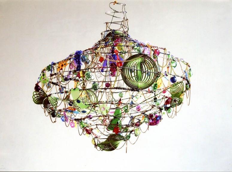 Erzählung über eine Galaxy II - 2008 - Multimaterial - Durchmesser 45x50 cm