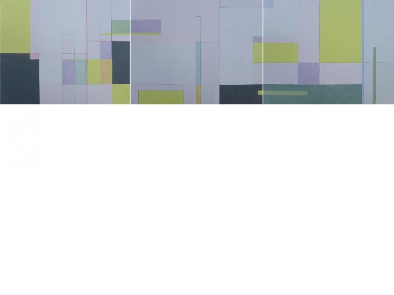 PLEINAIR Jazz14.1/3 S.// 2014 // Öl auf Leinwand // 40x153 cm