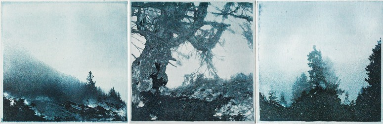Tiefe I - III - 2014 - Foto-Aquatinta auf Büttenpapier - je 39x27 cm
