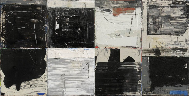 HORIZONTAL -2014 - Öl/Collage auf Leinwand -  je 20x20 cm