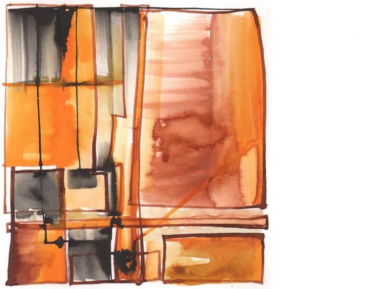 0910-20-14-2135 2014, Zeichnung, Tusche, 17x17 cm